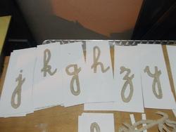 DIY : Lettres mobiles cursives