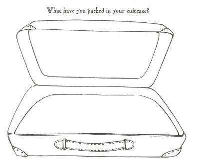 What have you packed in your suitcase?