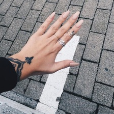Image de nails, tattoo, and style