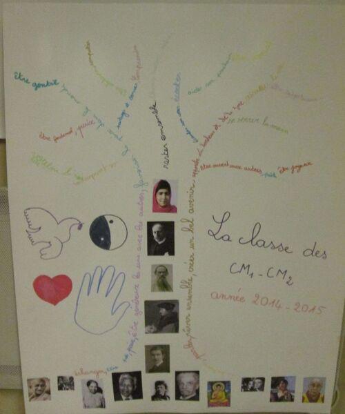 L'arbre de la paix des CM1 CM2.