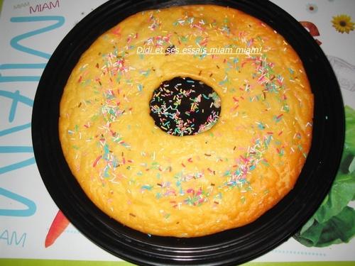 Gâteau façon flan aux papayes confites
