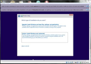 Installation virtuel Windows 10 Technical Preview