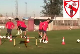 Séance football vidéo net de l'Athlético Séville