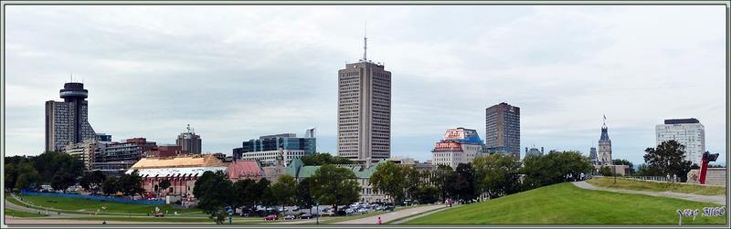 Vue panoramique à partir des Plaines d'Abraham - Québec - Canada