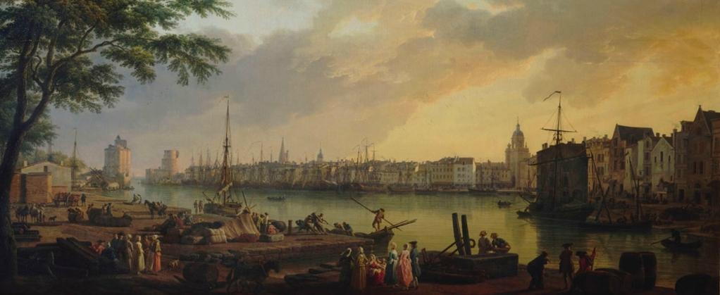 Vernet : vue du port de la Rochelle