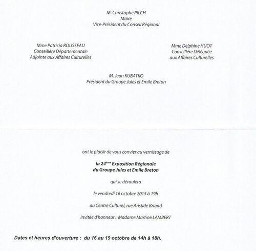 Jules et Emile Breton - expo d'octobre