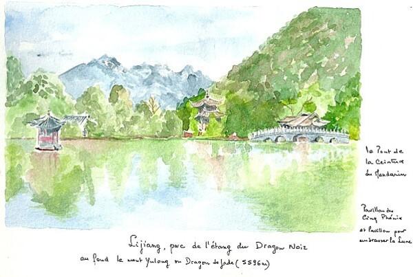 30 Lijiang parc de l'étang du Dragon noir