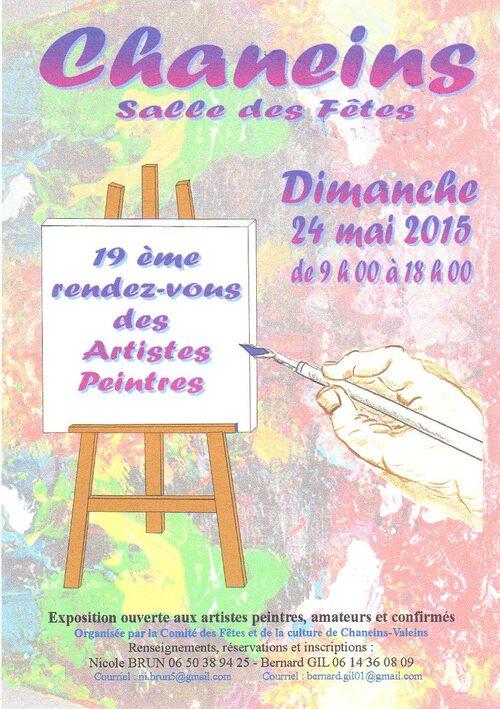 Une exposition de peinture à Chaneins (Ain): appel à candidature !
