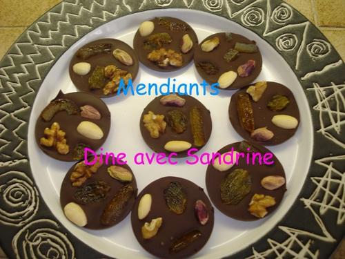 Des Mendiants au Chocolat