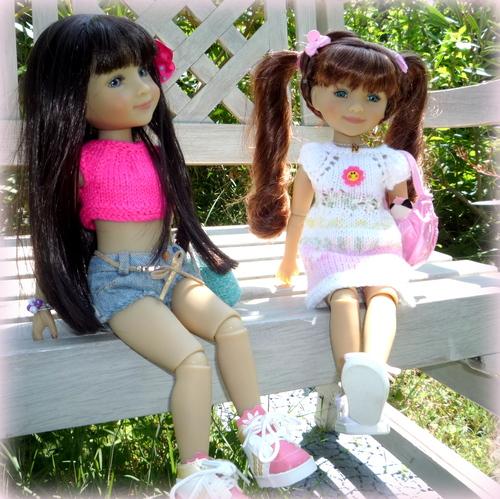 Isia et Noélie , une journée d'été