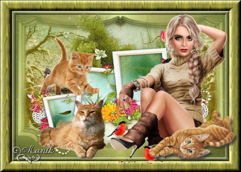 Un amour de chat roux défi pour Lara ,