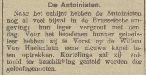 Temple de Forest (Belgisch dagblad, 8 April 1916)