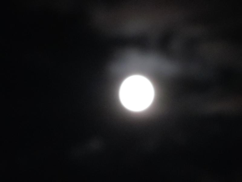 La lune à l'heure bleue