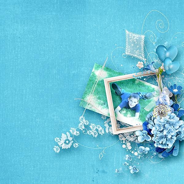 """kit """"something blue"""" de kaymee"""