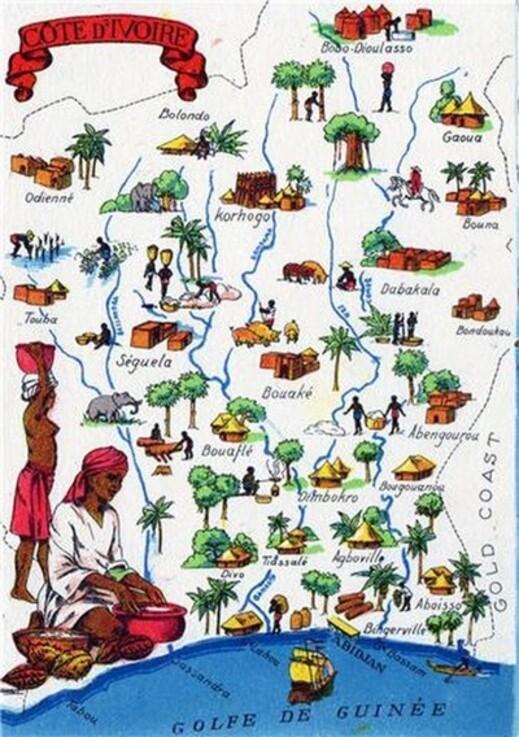 Très belles cartes de la Côte d'Ivoire