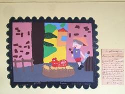 Fables de la Fontaine sur les murs de l'école