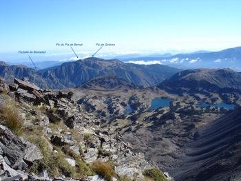 Peu avant le sommet, vue vers le Nord-Est