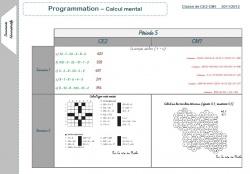 Prog Calcul mental Période 5