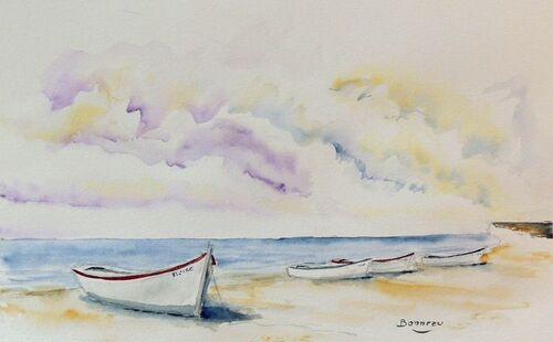 Barques sur le sable