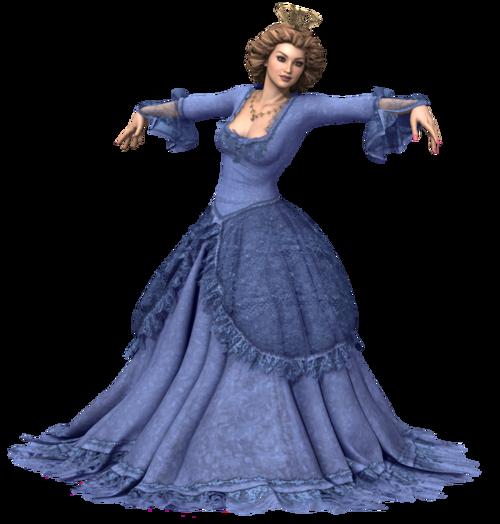 Tube : femme en robe de Cendrillon (render--image)