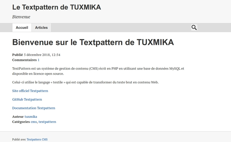Installer Textpattern sur Debian Stretch