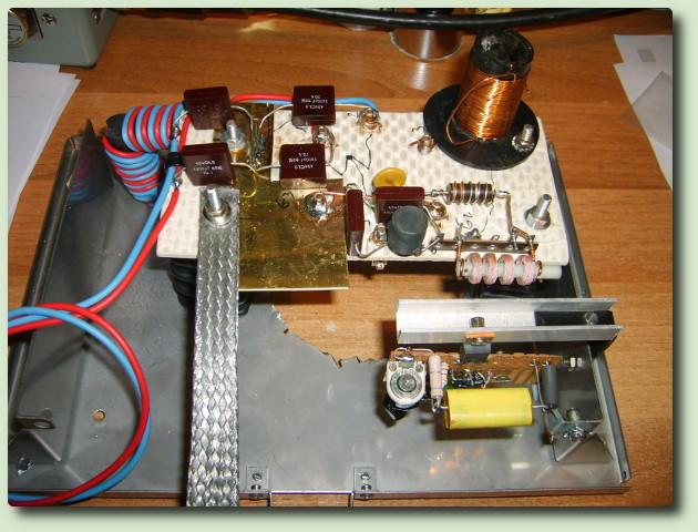 Emetteur AM avec une GU81 modulation cathode par Christophe F1APJ