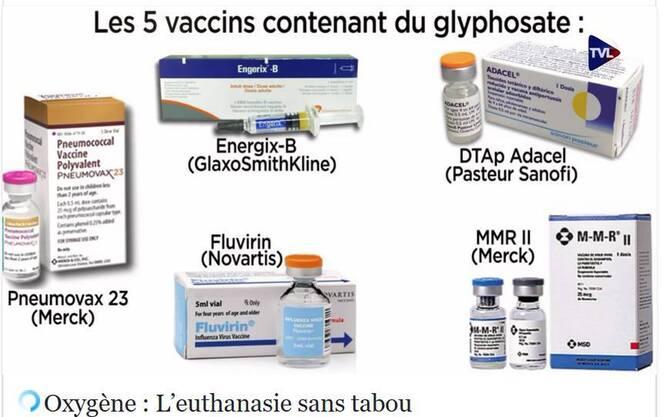 Du Glyphosate dans les vaccins de la petite enfance
