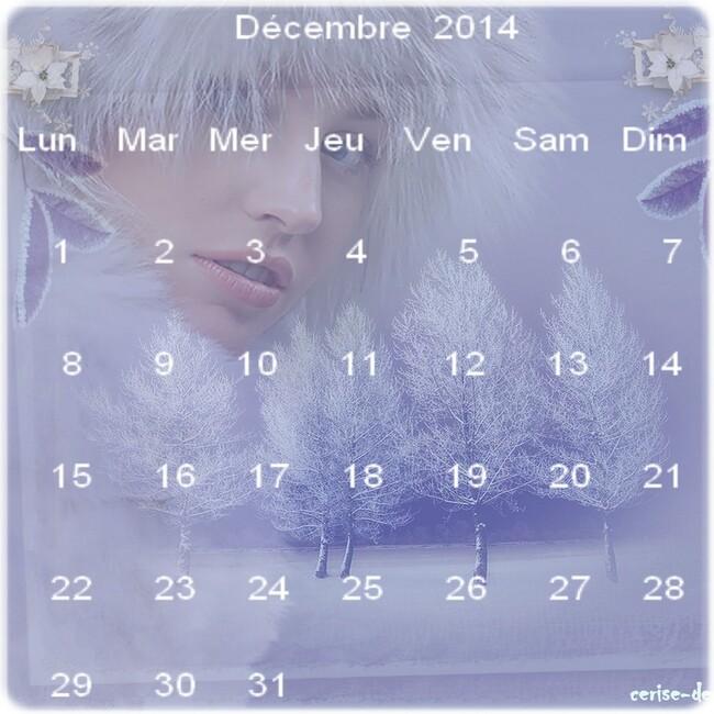 calendriers décembre 2014