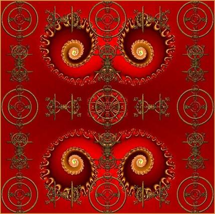 1821 fils d'or . Fractale : logiciels Incendia et ChaosPro