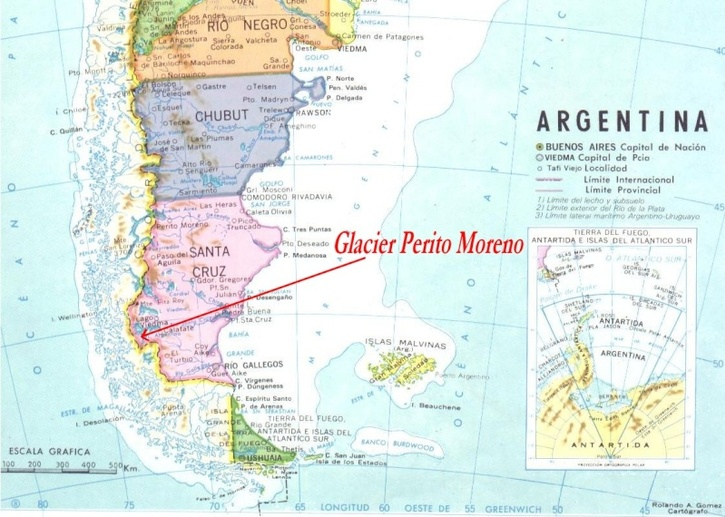 Photos-Pays du Monde 3:  Argentine Patagonie découverte du gigantesque glacier Perito Moreno + vidéo