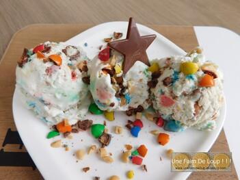 Crème glacée aux m&m's