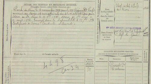 Emile Pannetier registre matricule