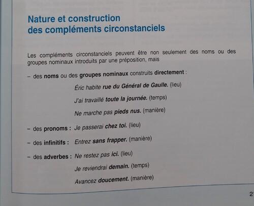 G / Les compléments circonstanciels