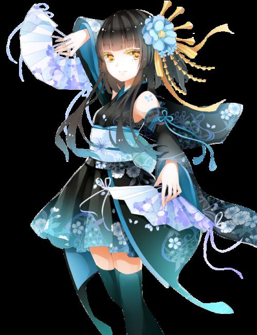 fille manga habits bleu