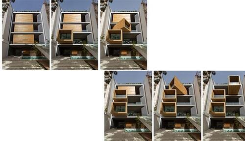 Maison à Iran : La façade tournante adaptable à n'importe quelle saison