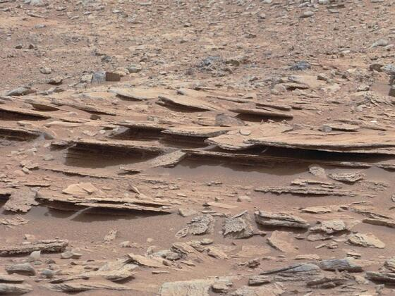 Layered martian outcrop