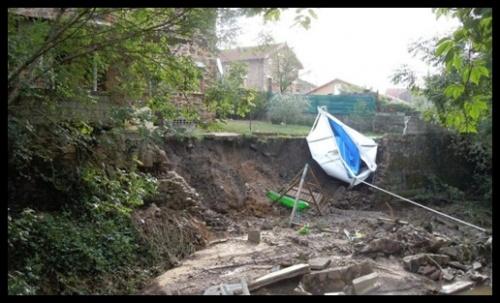 Violents orages sur le Carmausin (31 août 2011)