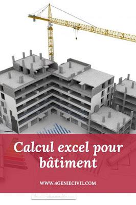 Feuille de calcul excel pour bâtiment génie civil