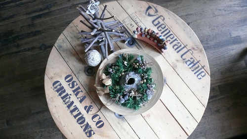 Couronne de Noël de table