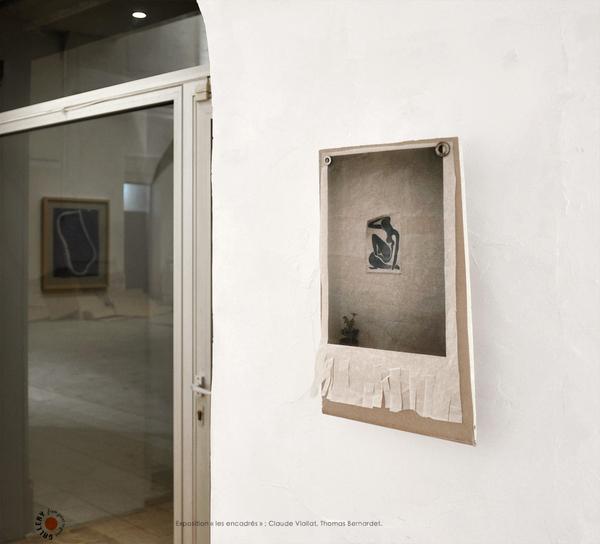 Exposition-es encadrés-Artistes: Bernardet, Viallat. Galerie Point to Point