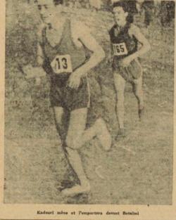 1950 Champion d'Alger , Kadouri devant Betaimi en Senior