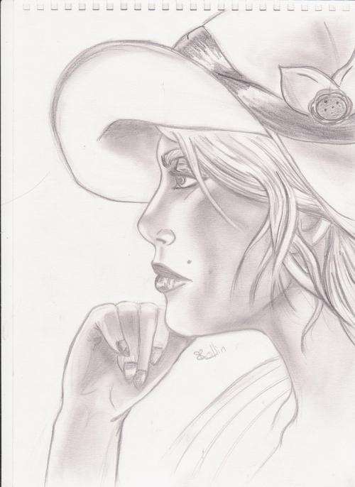 dame au chapeau