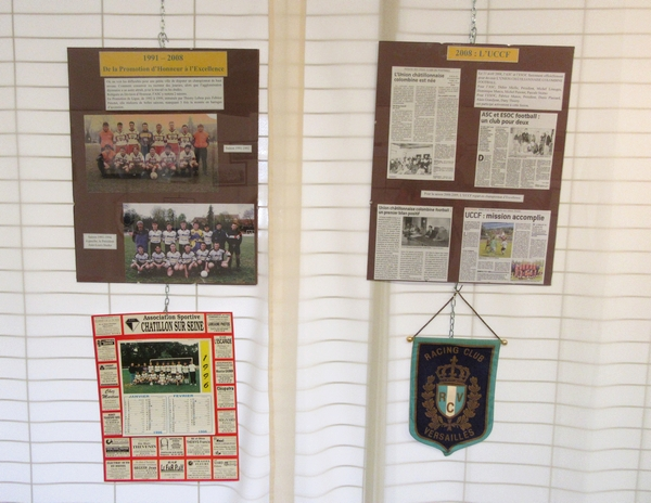 L'exposition sur le foot à Châtillon sur Seine et Sainte Colombe sur Seine, par les Amis du Châtillonnais, a été une grande réussite !