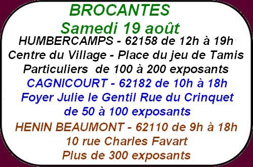 Les brocantes à Arras et ses environs ce week-end.