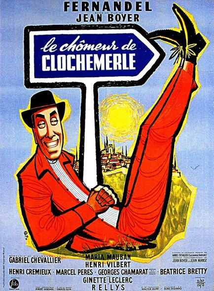 LE CHOMEUR DE CLOCHEMERLE -  FERNANDEL BOX OFFICE 1957