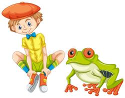 Le gamin et sa grenouille