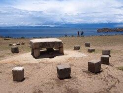 Isla del Sol - table des sacrifices Incas