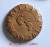 Cadeau souvenir de naissance à croquer: un biscuit personnalisé avec nom, date et décor - Arts et Sculpture, sculpteur, artisan d'art