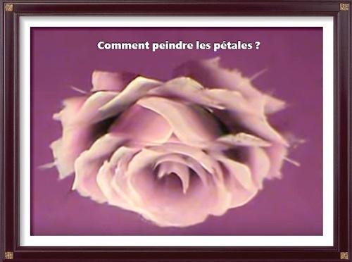 """Dessin et peinture - vidéo 2735 : Comment peindre facilement les pétales d'une fleur avec la méthode """"one stroke"""" ? - huile ou acrylique."""