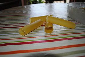 Cannellonis à la mousse de crevette et leur sauce